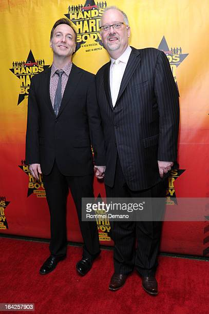 David Clement and Doug Wright attend 'Hands On A Hard Body' Broadway Opening Night After Party at Roseland Ballroom on March 21 2013 in New York City