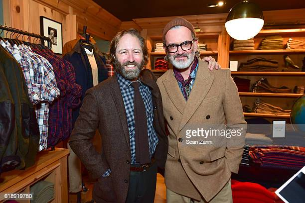 David Coggins and Frank Muytjens attend Frank Muytjens JCrew Celebrate David Coggins New Book 'Men and Style' at JCrew Men's Shop on October 27 2016...