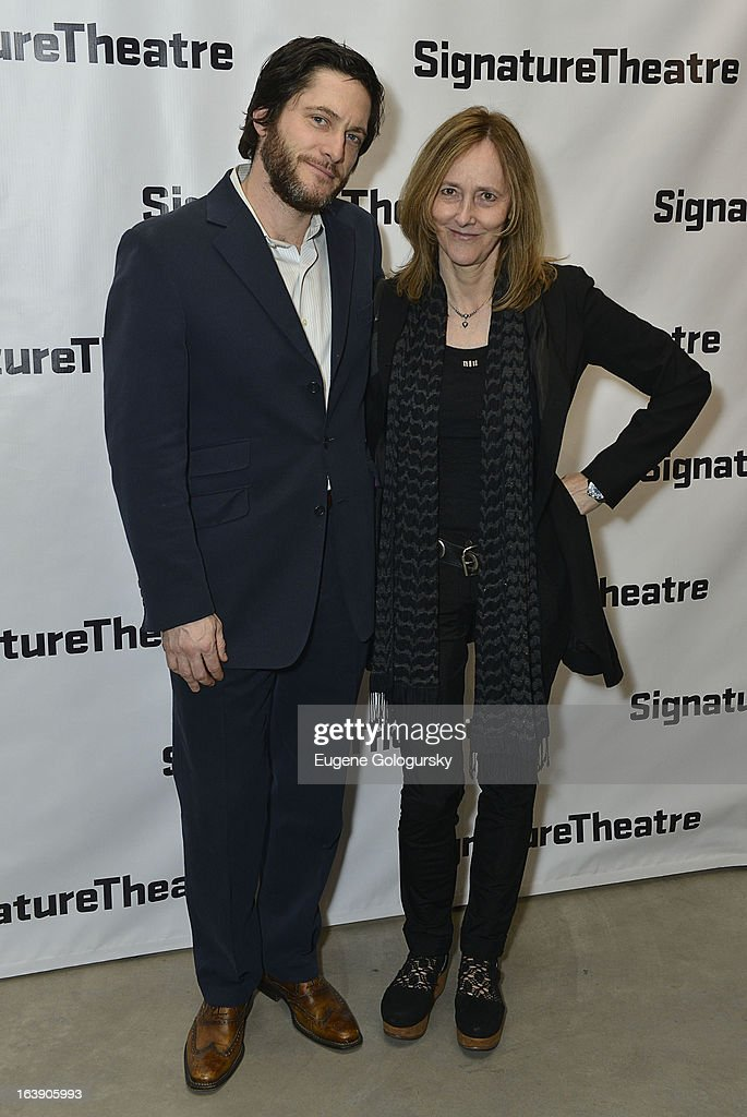 David Conrad and Jo Bonney attend 'The Mound Builders' Opening Night Party at Signature Theatre Company's The Pershing Square Signature Center on March 17, 2013 in New York City.