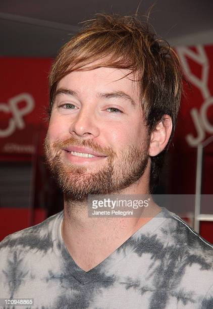 David Cook promotes Skechers at the new JCPenney store in Manhattan on August 5 2009 in New York City