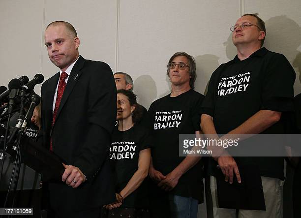 David Coombs lead attorney for Pfc Bradley Manning speaks to the media after Manning was sentenced to 35 years in prison August 21 2013 in Hanover...