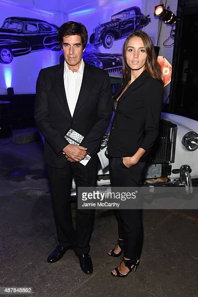 David Copperfield and Chloe Gosselin attend the Givenchy SS16 after party on September 11 2015 in New York City