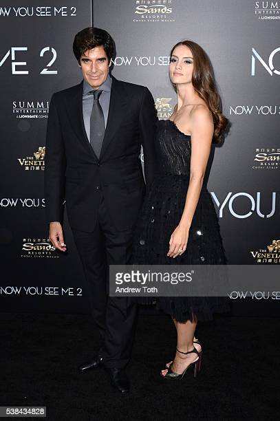 David Copperfield and Chloe Gosselin attend the 'Now You See Me 2' world premiere at AMC Loews Lincoln Square 13 theater on June 6 2016 in New York...