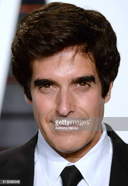 David Copperfield attends the 2016 Vanity Fair Oscar Party hosted By Graydon Carter at Wallis Annenberg Center for the Performing Arts on February 28...