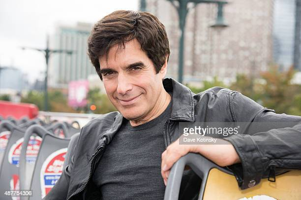 David Copperfield attends the David Copperfield Ride Of Fame Induction Ceremony at Pier 78 on September 11 2015 in New York City