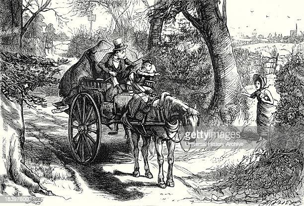 David Copperfield 'I Saw To My Amazement Peggotty Burst From A Hedge And Climb Into The Cart'