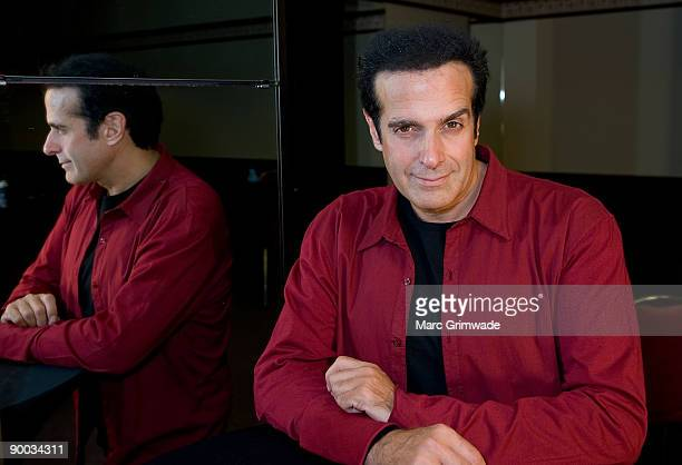 David Copperfield poses at a photo call to celebrate his first Australian show in 10 years and to discuss his first Australian show in a national...