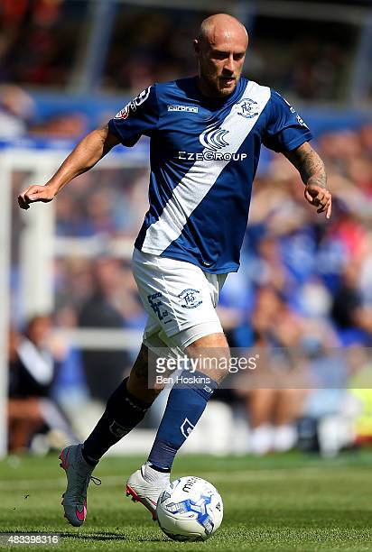 David Cotterill of Birmingham in action during the Sky Bet Championship match between Birmingham City and Reading at St Andrews Stadium on August 8...