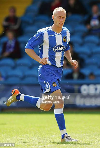 David Cotterill of Wigan Athletic in action during the PreSeason Friendly match between Halifax Town and Wigan Athletic at The Shay on July 28 2007...