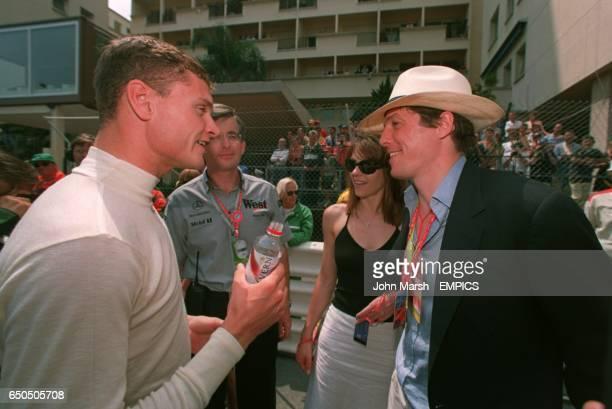 David Coulthard meets Liz Hurley and Hugh Grant