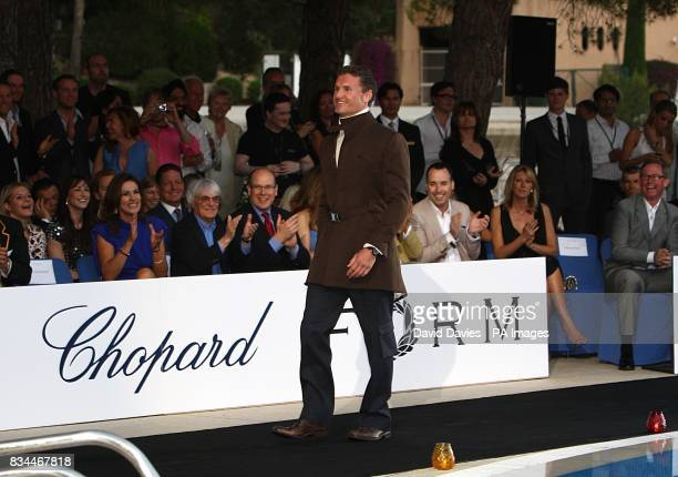 David Coulthard models at the Grand Prix and Fashion Unite at The Amber Lounge Le Meridien Beach Plaza Hotel Monaco