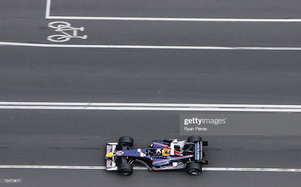 David Coulthard of Great Britain and the Red Bull Racing Team in action during the Australian Formula One Grand Prix at Albert Park on March 6 2005...
