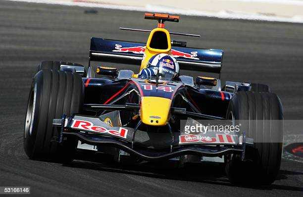 David Coulthard of Scotland and Red Bull Racing during the Bahrain F1 Grand Prix at the Bahrain International Circuit on April 3 in Sakhir Bahrain