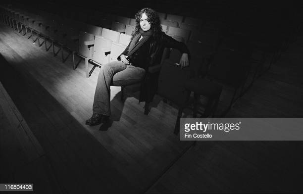 David Coverdale British singer with Whitesnake relaxing in the auditorium ahead of a concert by the band at the Hexagon theatre in Reading Berkshire...