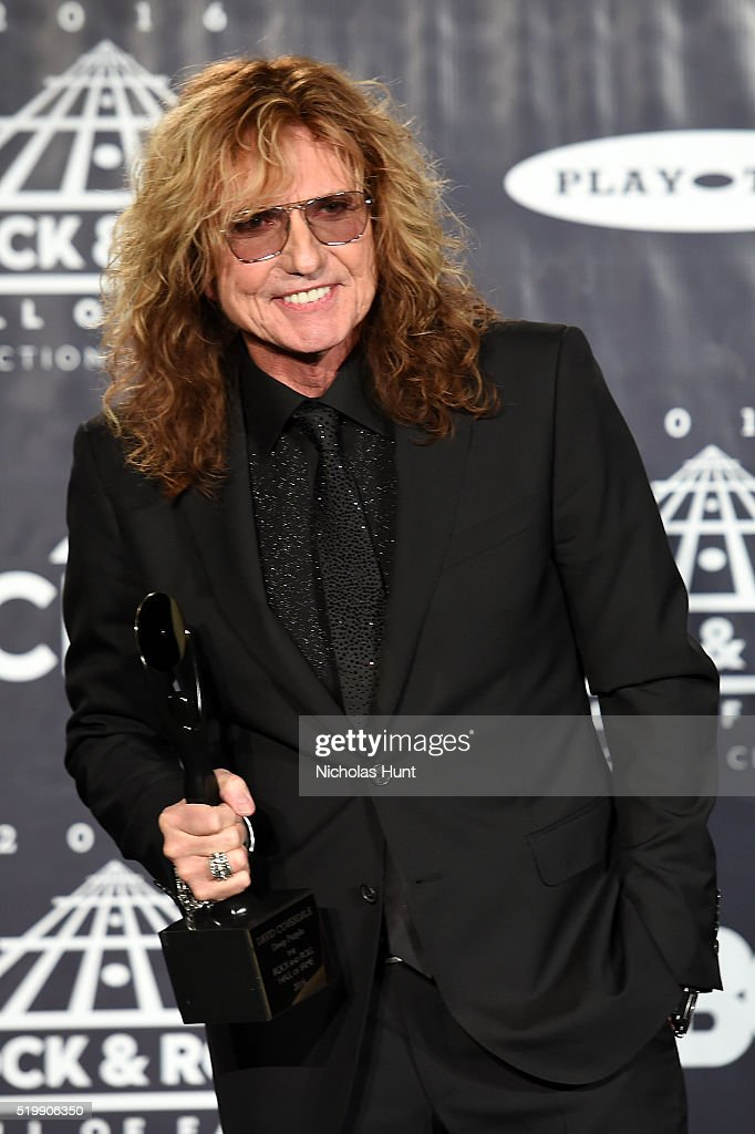 David Coverdale of Deep Purple attends the 31st Annual Rock And Roll Hall Of Fame Induction Ceremony at Barclays Center on April 8, 2016 in New York City.