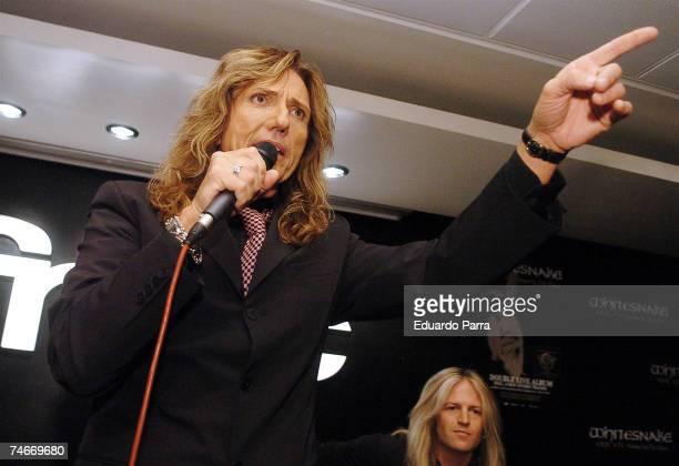 David Coverdale of Whitesnake at the Whitesnake Performs at FNAC Madrid Forum in Madrid November 28 2006 at in Madird