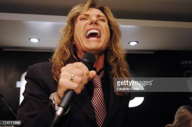 David Coverdale of Whitesnake during Whitesnake Performs at FNAC Madrid Forum in Madrid November 28 2006 in Madrid Spain