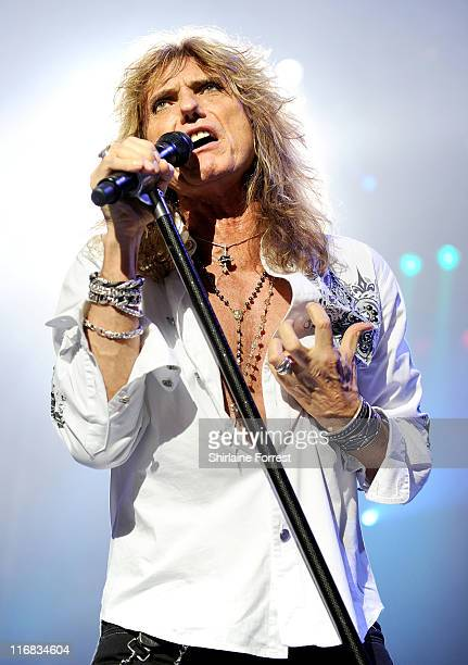 David Coverdale of Whitesnake performs a sold out show at Manchester Apollo on June 17 2011 in Manchester England