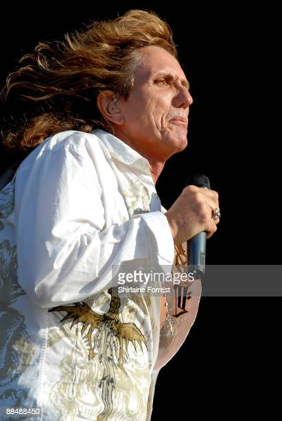 David Coverdale of Whitesnake performs at day three of the Download Festival at Donington Park on June 14 2009 in Castle Donington England