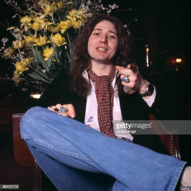 David Coverdale of Whitesnake poses in a hotel in March 1977 in Copenhagen Denmark