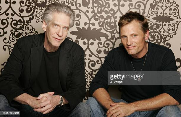 David Cronenberg director and Viggo Mortensen during 2005 Toronto Film Festival 'A History of Violence' Portraits at HP Portrait Studio in Toronto...