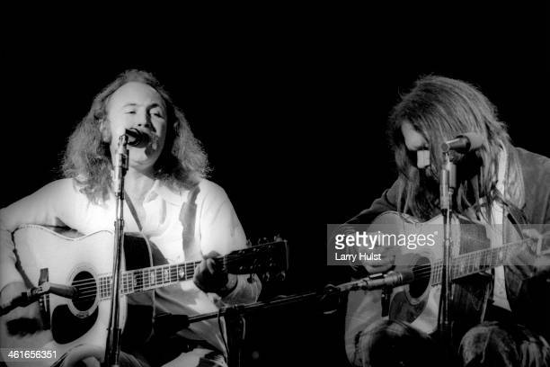 David Crosby and Neil Young performing at The Boarding House in San Francisco California on May 24 1978