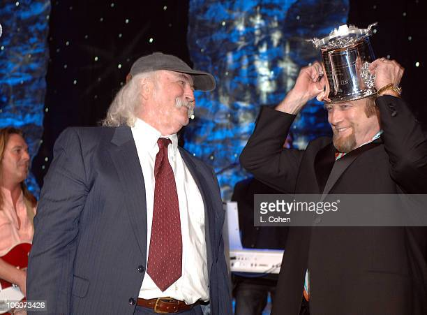 David Crosby and Stephen Stills during BMI 2006 Pop Music Awards at Regent Beverly Wilshire Hotel in Beverly Hills California United States