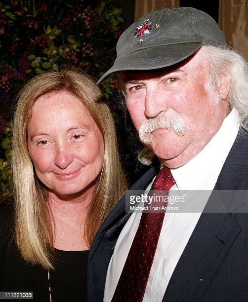 David Crosby and wife Jan during 2006 BMI Pop Music Awards Arrivals and Show at Regent Beverly Wilshire Hotel in Beverly Hills California United...