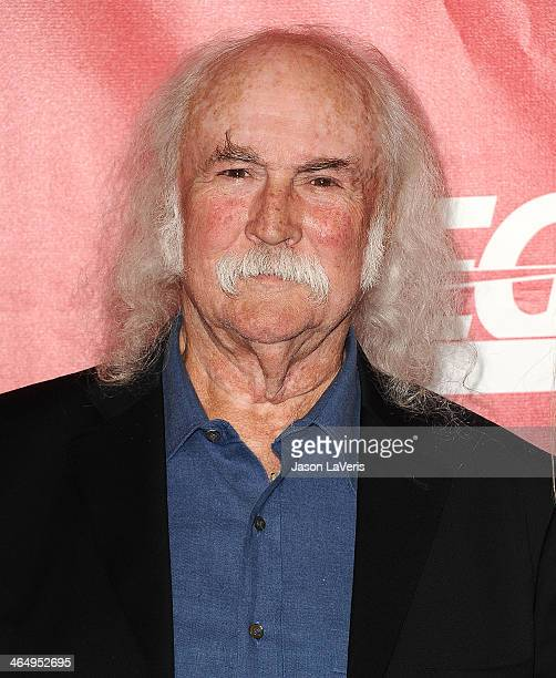 David Crosby attends the 2014 MusiCares Person of the Year honoring Carole King at Los Angeles Convention Center on January 24 2014 in Los Angeles...