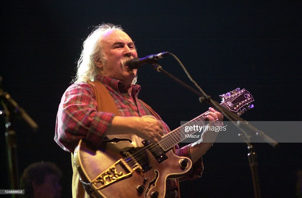 David Crosby during Crosby Stills Nash and Young MSG Concert at Madison Square Garden in New York City New York United States