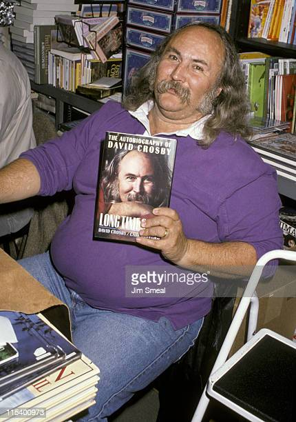 David Crosby during David Crosby Signs His Autobiography 'Long Time Gone' at Book Soup in Los Angeles California United States