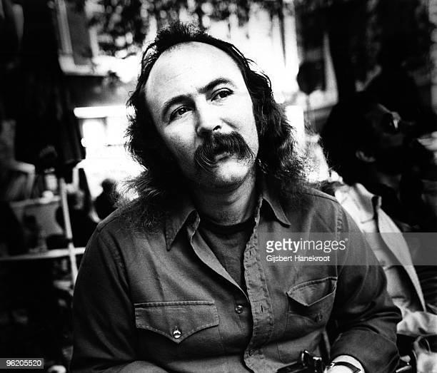 David Crosby from Crosby Stills Nash posed in Amsterdam Netherlands in 1976