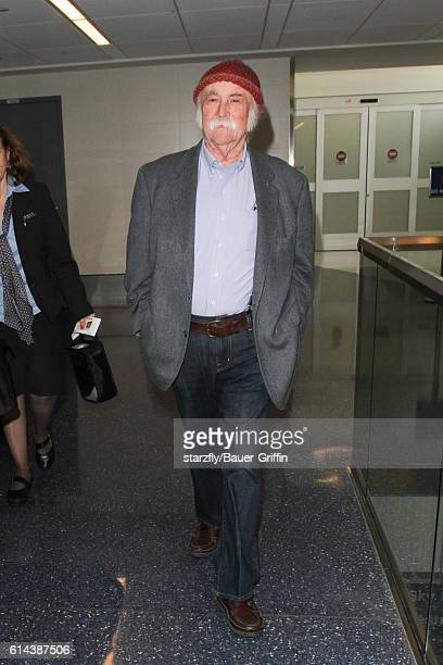 David Crosby is seen at LAX on October 13 2016 in Los Angeles California
