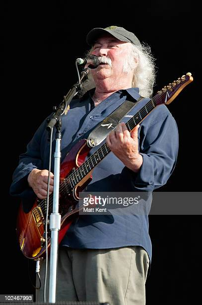 David Crosby of CSN performs at Day 3 of Hard Rock Calling at Hyde Park on June 27 2010 in London England
