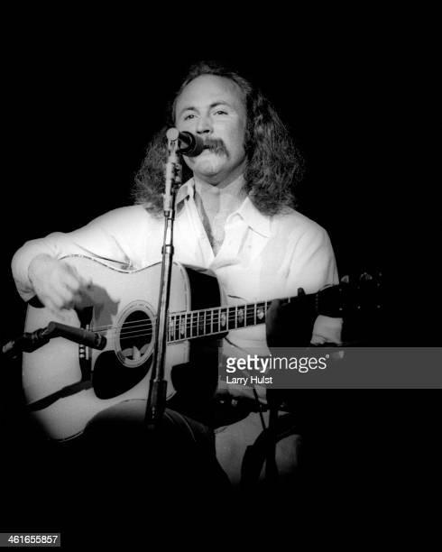 David Crosby performing at 'The Prisoners Benefit' at Winterland Auditorium in San Francisco California on May 24 1978