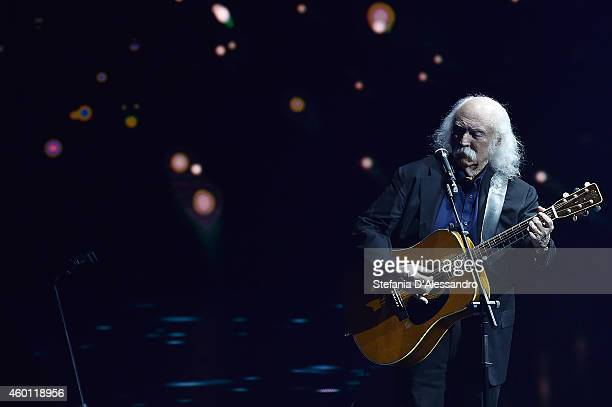 David Crosby performs live at 'Che Tempo Che Fa' TV Show on December 7 2014 in Milan Italy