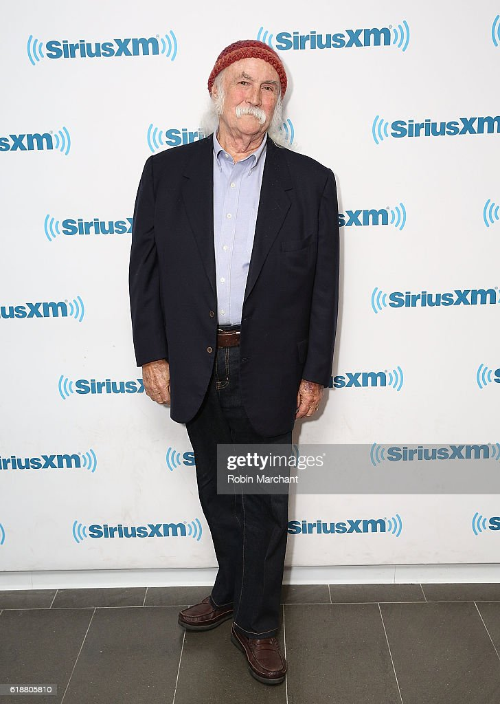 David Crosby visits at SiriusXM Studio on October 28, 2016 in New York City.