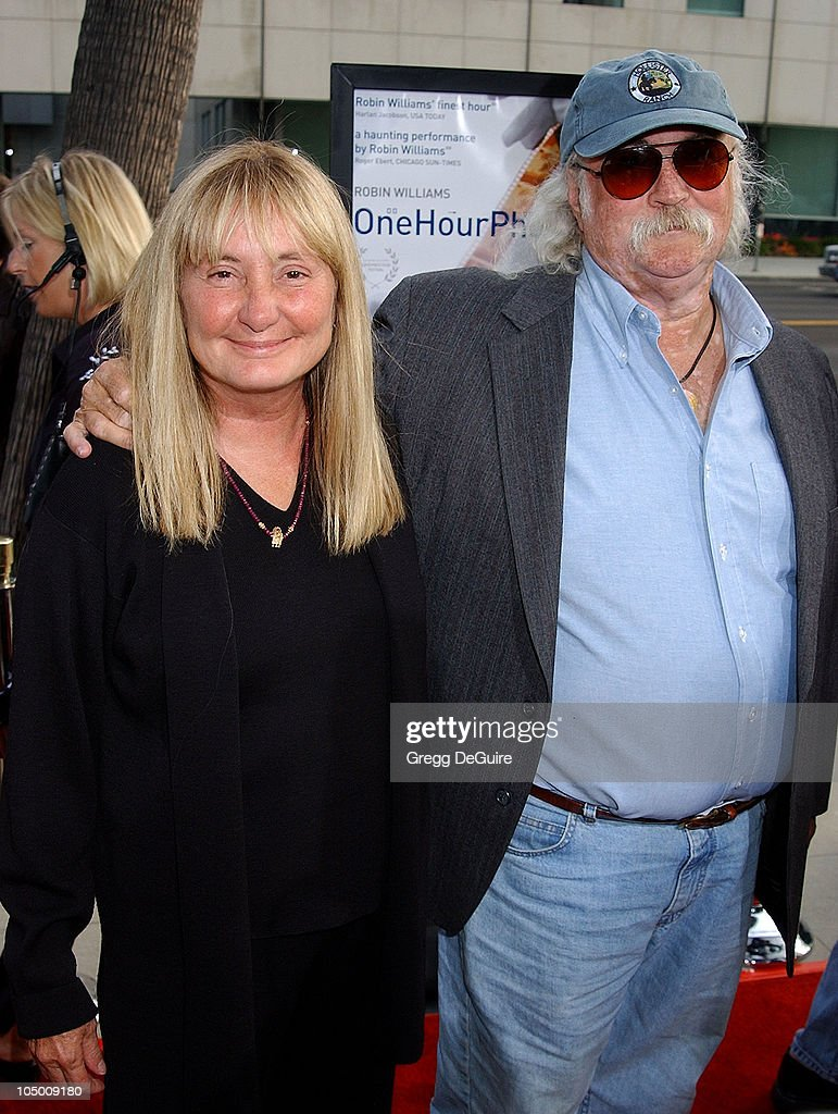 David Crosby & wife during 'One Hour Photo' Premiere at Academy Theatre in Beverly Hills, California, United States.