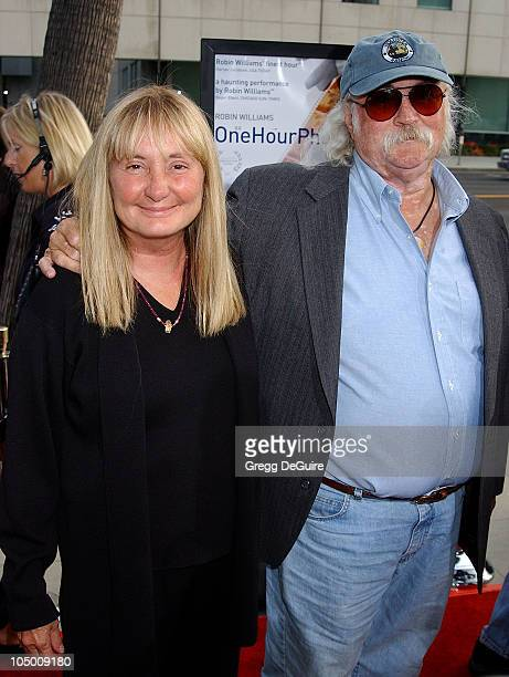 David Crosby wife during 'One Hour Photo' Premiere at Academy Theatre in Beverly Hills California United States