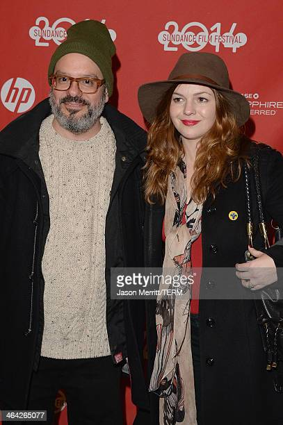 David Cross and Amber Tamblyn attend the premiere of the 'Hits' at Eccles Center Theatre during the 2014 Sundance Film Festival on January 21 2014 in...