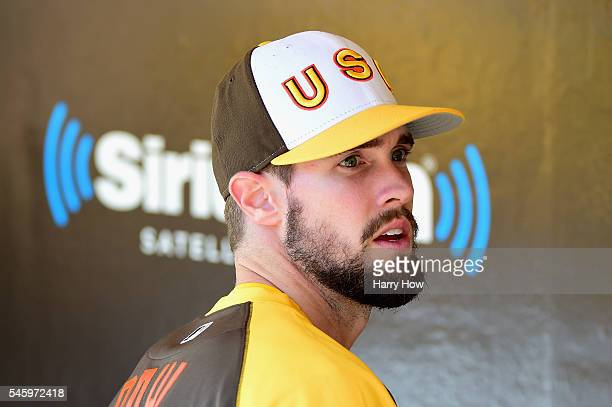 David Dahl of the US Team looks on prior to the SiriusXM AllStar Futures Game at PETCO Park on July 10 2016 in San Diego California