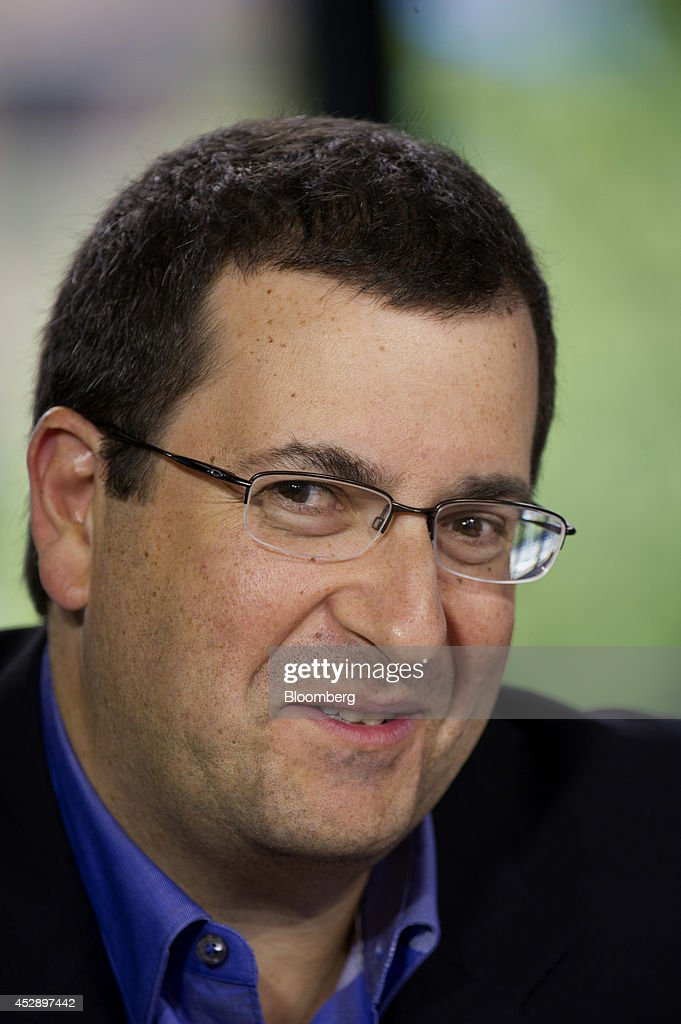 David 'Dave' Goldberg, chief executive officer of SurveyMonkey.com LLC, speaks during a Bloomberg West Television interview in San Francisco, California, U.S., on Tuesday, July 29, 2014. Goldberg discussed the metrics of how Twitter is used. Photographer: David Paul Morris/Bloomberg via Getty Images