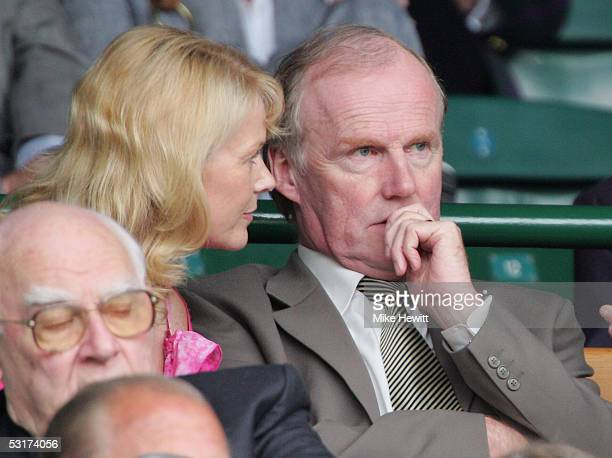 David Davies the FA Chief Executive watches on prior to the match between Venus Williams of USA in against Maria Sharapova of Russia during the tenth...