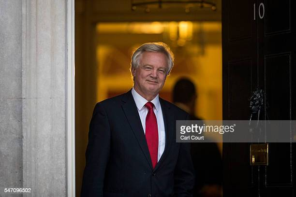 David Davis leaves Downing Street after being appointed Brexit Minister on July 13 2016 in London England The UK's New Prime Minister Theresa May...