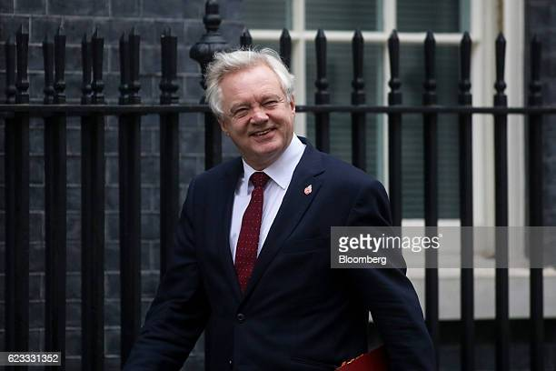 David Davis UK exiting the European Union secretary arrives to attend the weekly cabinet meeting at Downing Street in London UK on Tuesday Nov 15...