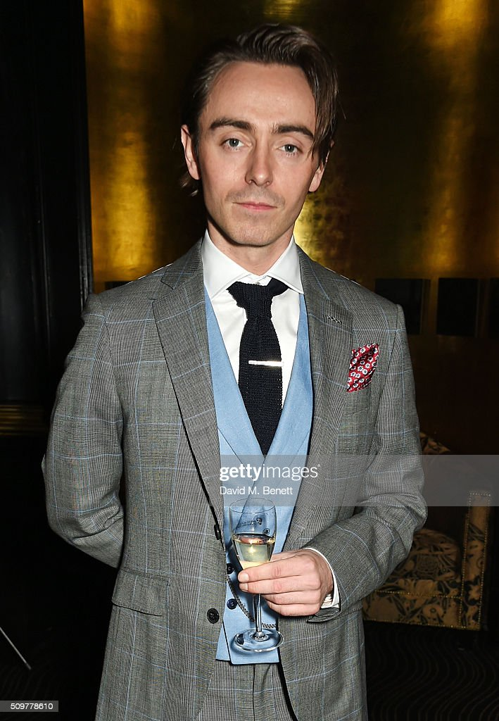 David Dawson attends the GQ and Hackett Pre-BAFTA party, celebrating Hackett's fifth year as the Official Menswear Stylist to the EE British Academy Film Awards, at The Savoy Hotel on February 12, 2016 in London, England.