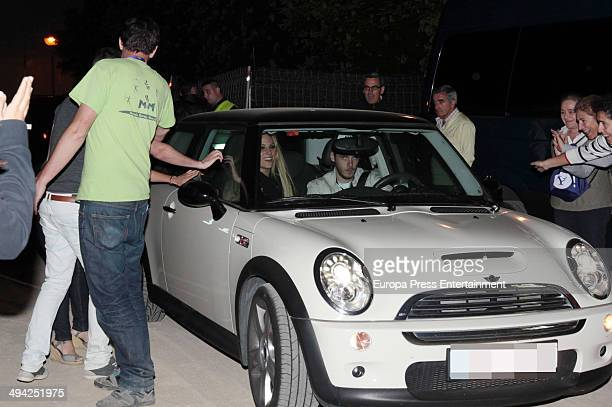 David de Gea and Edurne are seen on May 16 2014 in Madrid Spain