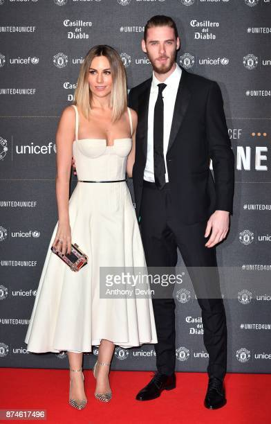 David de Gea and Edurne Garcia attend the United for Unicef Gala Dinner at Old Trafford on November 15 2017 in Manchester England