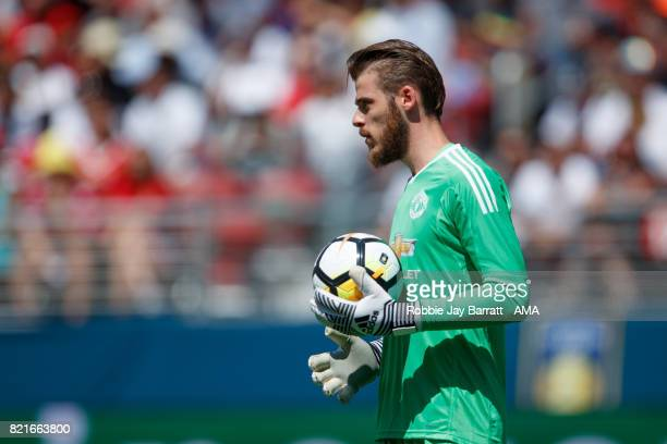 David de Gea of Manchester United during the International Champions Cup 2017 match between Real Madrid v Manchester United at Levi'a Stadium on July...