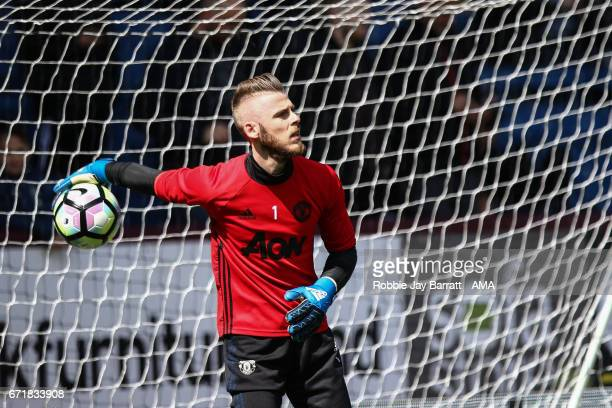 David De Gea of Manchester United during the Premier League match between Burnley and Manchester United at Turf Moor on April 23 2017 in Burnley...